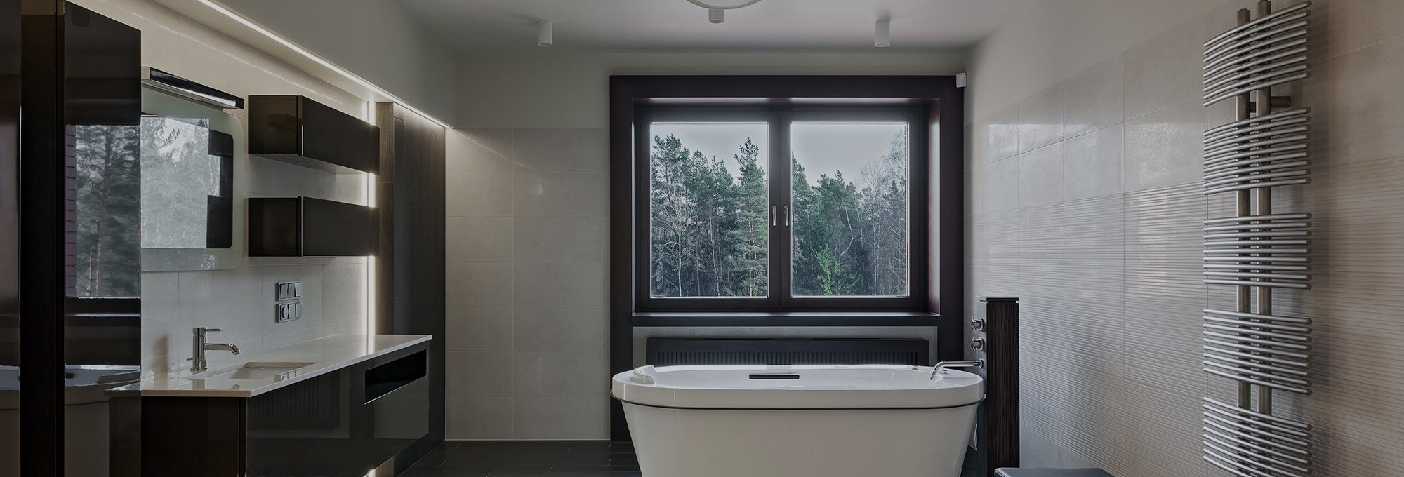 bathroom with glass and window upgrade